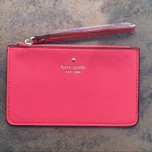 NWT Hot Pink Kate Spade Wristlet Wallet